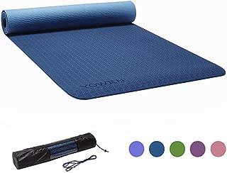 Yoga Mat, Tapete de Yoga, Estera de Yoga, Colchoneta de Yoga Ecológica Colchón de Deportes y Ejercicios Esterilla de Pilates Antideslizante Colchonetas de Entrenamiento de TPE de 6mm para Yoga, Ejercicio y Gimnasia, con Cinta y Bolsa de Yoga