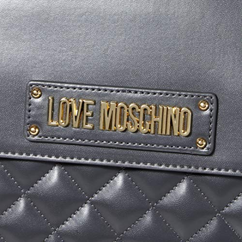 Love Moschino Borsa Quilted Nappa Pu, Mano Donna, (Nero), 30x33x12 cm (W x H x L)