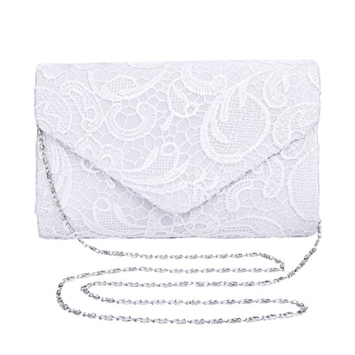 GDLLBAO Damen Frauen elegant Clutch Abendtasche Spitze Handtasche