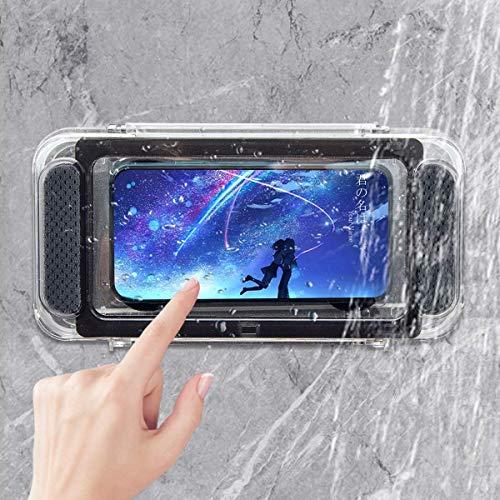 iphone 防水ケース お風呂 スマホスタンド 浴室 スマホホルダー トイレ 多機能ブラケット付きのアップグレード バスルーム 防水電話ケース スピーカー Vitahop