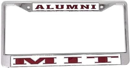 Massachusetts Institute of Technology Alumni On White Chrome License Plate Frame