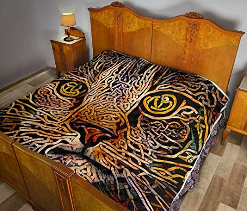 Cat - Celtic Knot Quilt Pattern Quilts Comforters with King Queen Twin Size