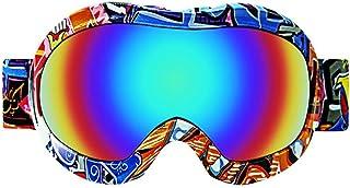 Biback Gafas de esquí para niños Antiniebla, 100 de protección UV Lentes a Prueba de Viento Gafas antirrayas para niños Motocross Motocicleta Dirt Bike ATV Offroad Ski Snowboard