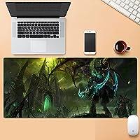 World of Warcraft リッチキング用大型マウスパッド 滑り止めゴムベース ステッチ加工 ほつれ防止エッジ 防水 滑らかなゲーム表面 キーボードとマウスコンボパッド マウスパッド デスクパッド-アニメ_900*400*3