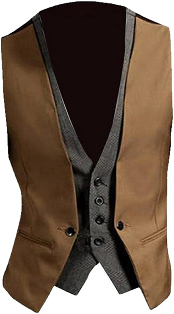 Men's Sleeveless Button Rapid rise Dealing full price reduction Vest Slim Jacket