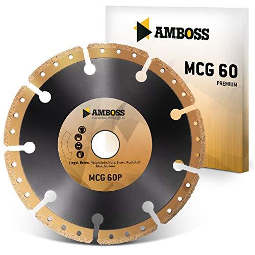 Amboss MCG 60P - Diamant-Trennscheibe - Universal/Allround   Segmenthöhe: 10 mm (galvanisiert) (Ø 125 mm x 22.2 mm x 10mm Diamantbelag)