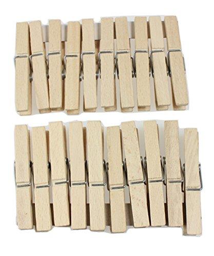 Pinces à linge set de 20 pinces à linge en bois