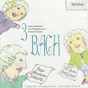 3 Bach: Johann Sebastian Bach, Carl Philipp Emanuel Bach, Johann Christian Bach