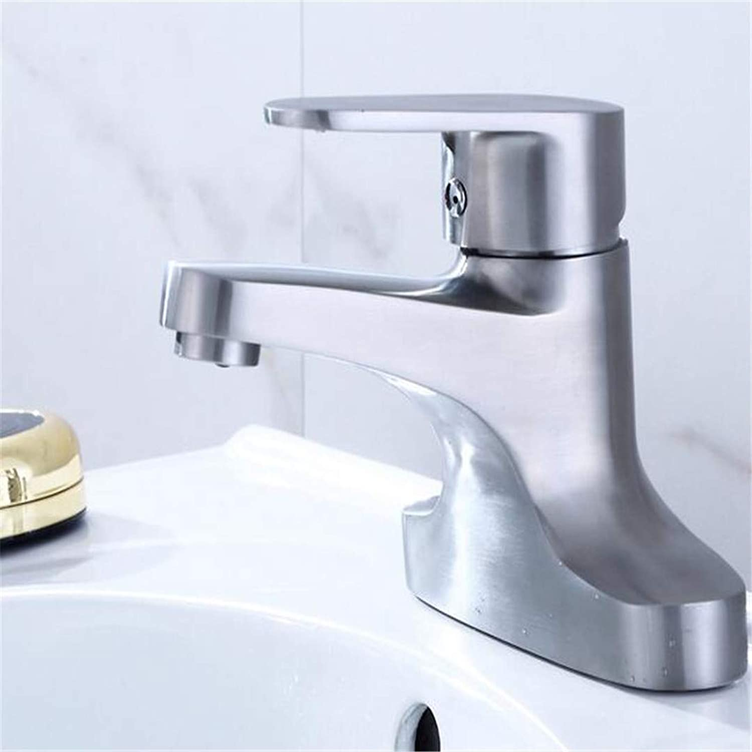 Bathroom Sink Bath Faucet Stainless Steel Double Hole Old Cold Hot Basin Faucet Two Joint Basin Faucet