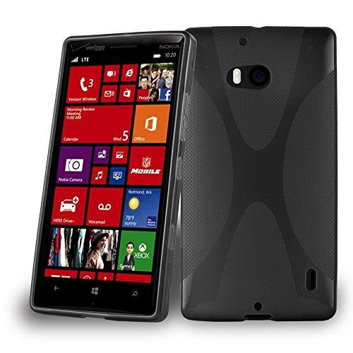 Cadorabo - Cover in Silicone TPU Flessibile per Nokia Lumia 929/930, Design X-Line, Colore Nero