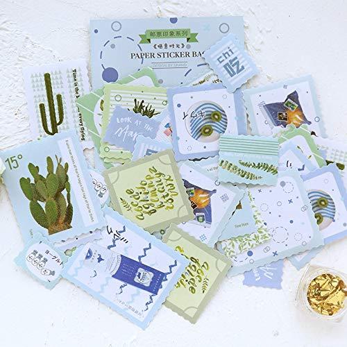 Vintage Plants Stempel Washi Papier Sticker Pakket Diy Dagboek Decoratie Sticker Album Scrapbooking40 Stks/partij