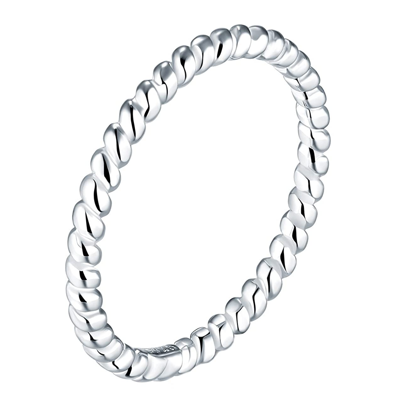 BORUO 925 Sterling Silver Ring, Celtic Knot Infinity Promise Ring Size 4-12