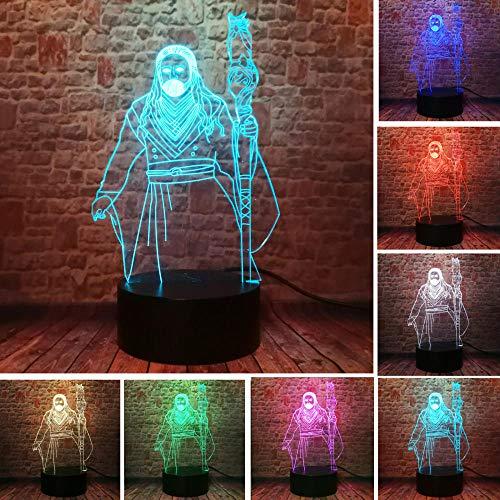 3D Illusionslampe Led Nachtlicht Wow Warcraft 3 Antonidas Modell Charmander Smart Boys Schlafzimmer Shop Schreibtisch Lampe Fans Home Decor Kid Teens Weihnachtsgeschenk