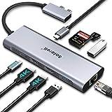 USB C Hub Docking Station - 4k DUAL-Display 9 in 2 Thunderbolt 3 Multiport Laptop Docking Station, 2 HDMI, PD...
