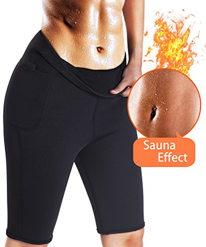 Hot Body Shapers Sport Pants for Women Slimming Thermo Sweat Sauna Neoprene Pant Weight Loss High Waist Yoga Shorts, 2XL (16-18)
