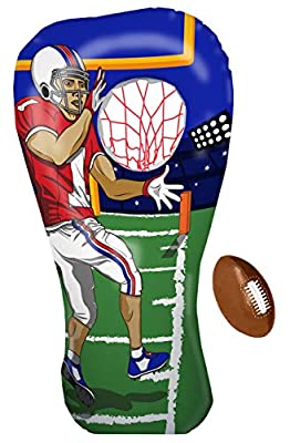 Inflatable Football Toss Target Party Game, Sports Toys Gear and Gifts for Kids Boys Girls and Family by Island Genius