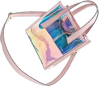 Attractive Women Buckle Chain Handbags Girls Phone Bag Lady handbags PVC crossbody Transparent PVC Crossbody Shoulder Mess...