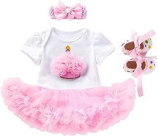 Conjuntos y Conjuntos para niñas, bebés recién Nacidos, niñas, Pastel de cumpleaños, Corona, Mameluco, Vestido, Zapatos de...