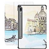 Funda Inteligente para Samsung Galaxy Tab S7 Plus 2020 Release 12,4 Pulgadas SM-T970 / T975 / T976 con portalápices, Italia Catedral de Venecia Santa María