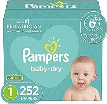 Diapers Newborn/Size 1  8-14 lb  252 Count - Pampers Baby Dry Disposable Baby Diapers ONE MONTH SUPPLY