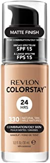 Revlon ColorStay Makeup Foundation for Combination/Oily Skin, 30ml, 330 Natural Tan