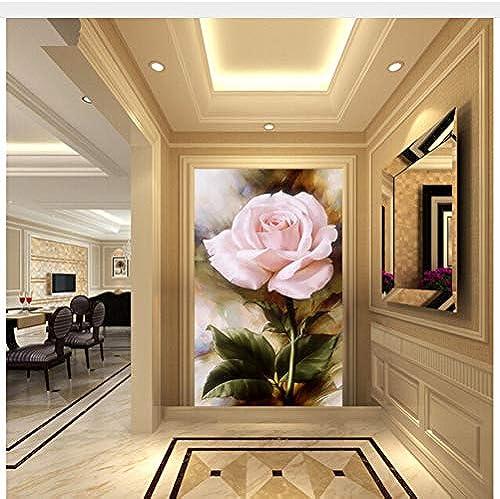 Meaosy Gewohnheit 3 D, Rosafarbenes  em e Für Die Wasserdichte Tapete Der Wohnzimmerschlafzimmer FernsehhinterGründwand-350X25cm