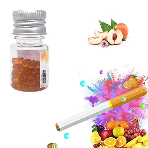 LALISA Aromatische Kapseln Zigarettenkapsel Reines ätherisches Pflanzenöl Reichhaltige Aromakapseln können den Geschmack von Zigaretten verbessernapsules Geeignet Für Alle Filterzigaretten,Peach