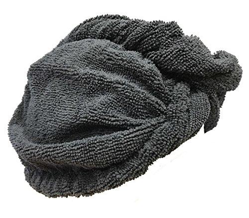 Bath flor toalla de pelo de microfibra, ligera y absorbente, gris oscuro, talla única