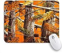 ZOMOY マウスパッド 個性的 おしゃれ 柔軟 かわいい ゴム製裏面 ゲーミングマウスパッド PC ノートパソコン オフィス用 デスクマット 滑り止め 耐久性が良い おもしろいパターン (カモの木オレンジファッション)