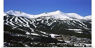 GREATBIGCANVAS Entitled Ski Resorts in Front of a Mountain Range, Breckenridge, Summit County, Colorado Poster Print, 60