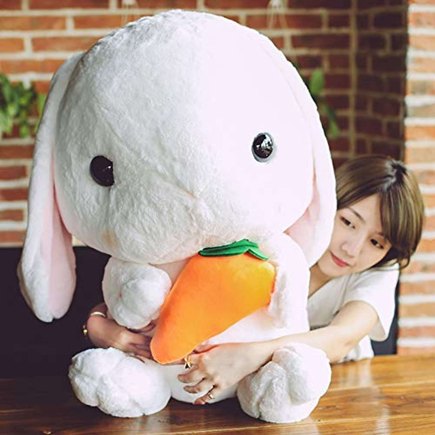 DONGER Rabbit Toy Large Lop Rabbit Doll Doll Doll Doll Pillow Cute Girl Super Cute, Carred Models, 32 Cm