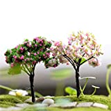 Mini árbol de Cerezo en Miniatura del árbol de Coco artesanales de plástico de Kawaii de los árboles por Miniatura del Ornamento del jardín Dollhouse Tiesto