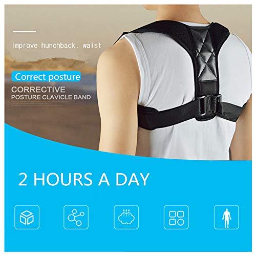 Correcteur de posture du dos réglable – Soutien de la clavicule d'épaule et des douleurs au dos et aux épaules pour hommes, femmes, enfants et adolescents