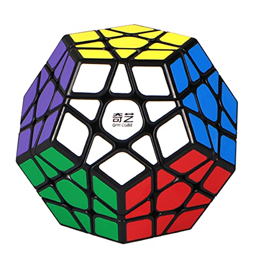 ROXENDA Megaminx Speed Cube, 3x3x3 Pentagonale Speed Cube Dodecahedron Cubo Magico Puzzle Giocattolo (Megaminx Nero)