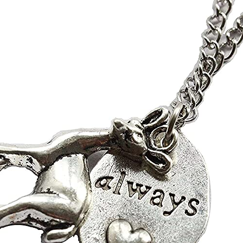 chaosong shop Collar de Harry Potter con texto 'Always Ec, Snape Ec, Profesor Snape, Lily Potter