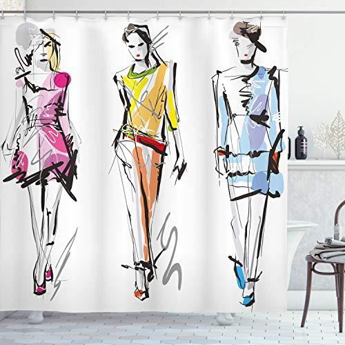 ABAKUHAUS Sala de Adolescentes Cortina de Baño, Modelos de Manera Art