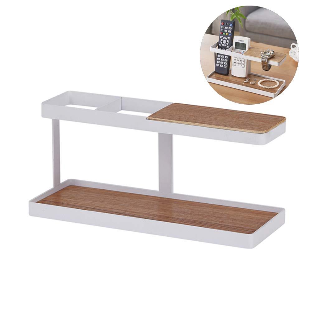 Soporte para mando a distancia estilo japonés, de madera, de hierro, gafas, relojes, caja de almacenamiento, organizador de escritorio, estante para TV, mandos a distancia, reloj de pulsera, joyería: Amazon.es: Hogar