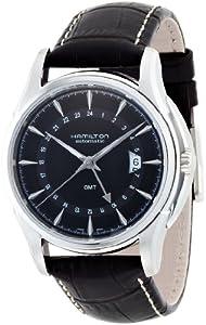 Hamilton Men's H32585531 Jazzmaster Traveler Black GMT Dial Watch image