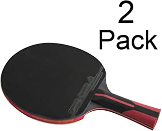 KDKDA 2 Pack Pro Carbon Performance Level Table Tennis Racket 6 Star Professional Level Ping Pong Paddle with Carbon Technology for Tournament Play with Racquet Bag Set