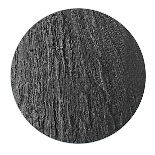 WENKO 53981100 Dessous de Plat Rond en Ardoise, poêles et casseroles, Noir