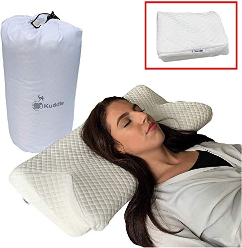 Kuddle Luxury Orthopaedic Contour Memory Foam Pillow Best For Neck And...