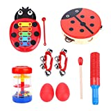 Kids Musical Instruments, Instruments Toy, 8Pcs Musical Instruments Educational Toy Set for Kid Baby Babies Children Boys and Girls