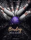 bowling team score: bowling score book   108 score sheet   gift for bowlers & bowling coachs/cover 8.5x11  110 page
