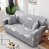 Fsogasilttlv Cubre Protector Sofá Ajustables 2 plazas, Funda de sofá elástica elástica de Color sólido, Fundas de sofá para sofás universales, Sala de Estar W