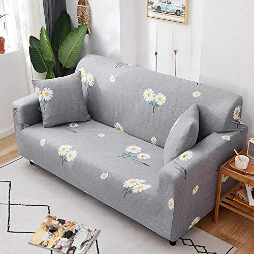 Fsogasilttlv Funda Antideslizante para sofá Lavable y elástico 1 Plaza, Fundas de sofá Chaise Longue Estampadas en Forma de L para Sala de Estar, Protector elástico Antipolvo para Esquina B