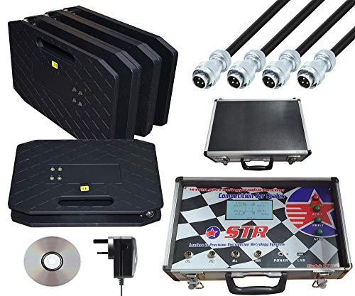 STR Sistema de báscula electrónica Cornerweight para motorsport/ovalado/circuito, peso máximo de 2000 kg