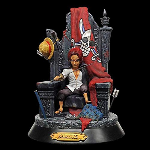 One Piece Red Hair Shanks Toy Statue Toy Model Anime 24CM LYMY