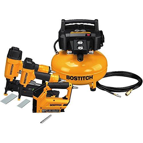 BOSTITCH U/BTFP3KIT 3-Tool and Compressor Combo Kit (Renewed)