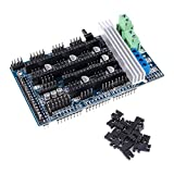AOICRIE Ramps 1.6 Plus Expansion Control Panel with Heatsink Upgraded Ramps 1.4 3D Motherboard Support A4988 DRV8825 TMC2130 Driver Reprap Mendel for 3D Printer Board Parts