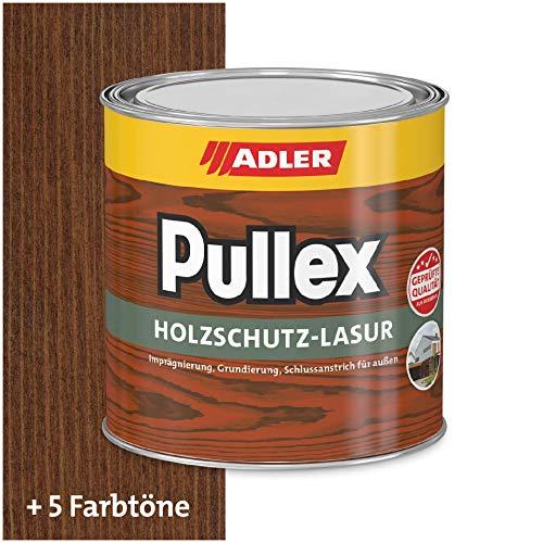 ADLER Pullex Holzschutzlasur Palisander 750ml - 2in1 Imprägnierung und Holzlasur aussen - Universelle, aromatenfreie Lasur für Holz im Außenbereich. Perfekter Holzschutz